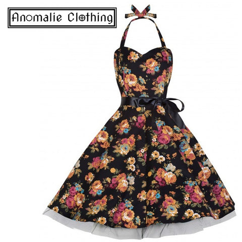 Black & Floral Bonnie Swing Dress - Discontinued