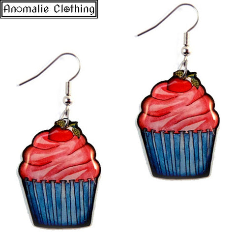 Cupcake Dangle Earrings