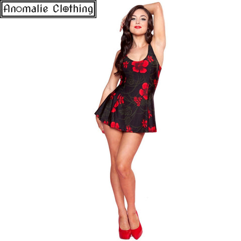 Rouge Red Hibiscus Swimdress