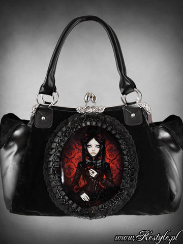 Red & Black Lolita Doll Handbag