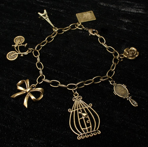 Romantic Destinations Bronze Charm Bracelet