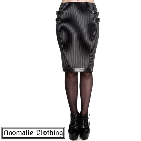 Black & White Pinstripe Octavia Skirt - One S Left!