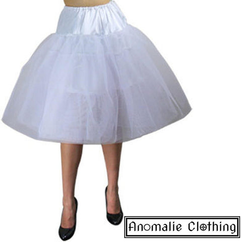 "24.5"" Long Chic Star Tutu Petticoat in White"