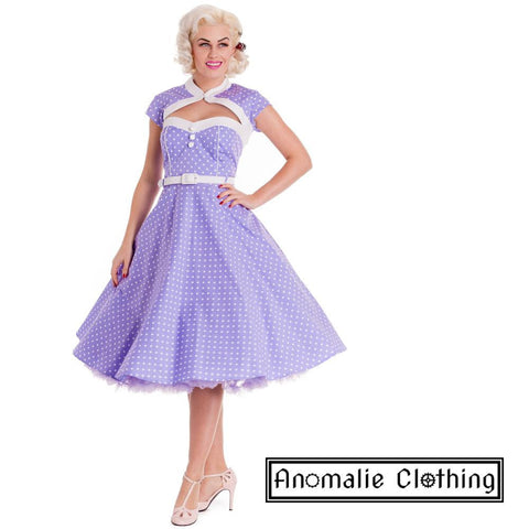 Lilac & White Melanie Day Dress