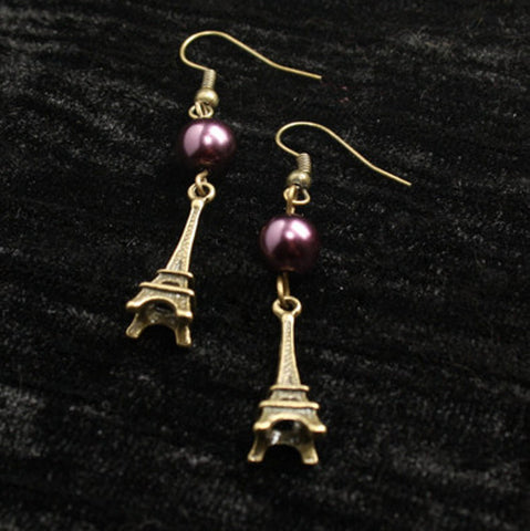 Romantic Destinations Bronze Eiffel Tower Earrings - Discontinued