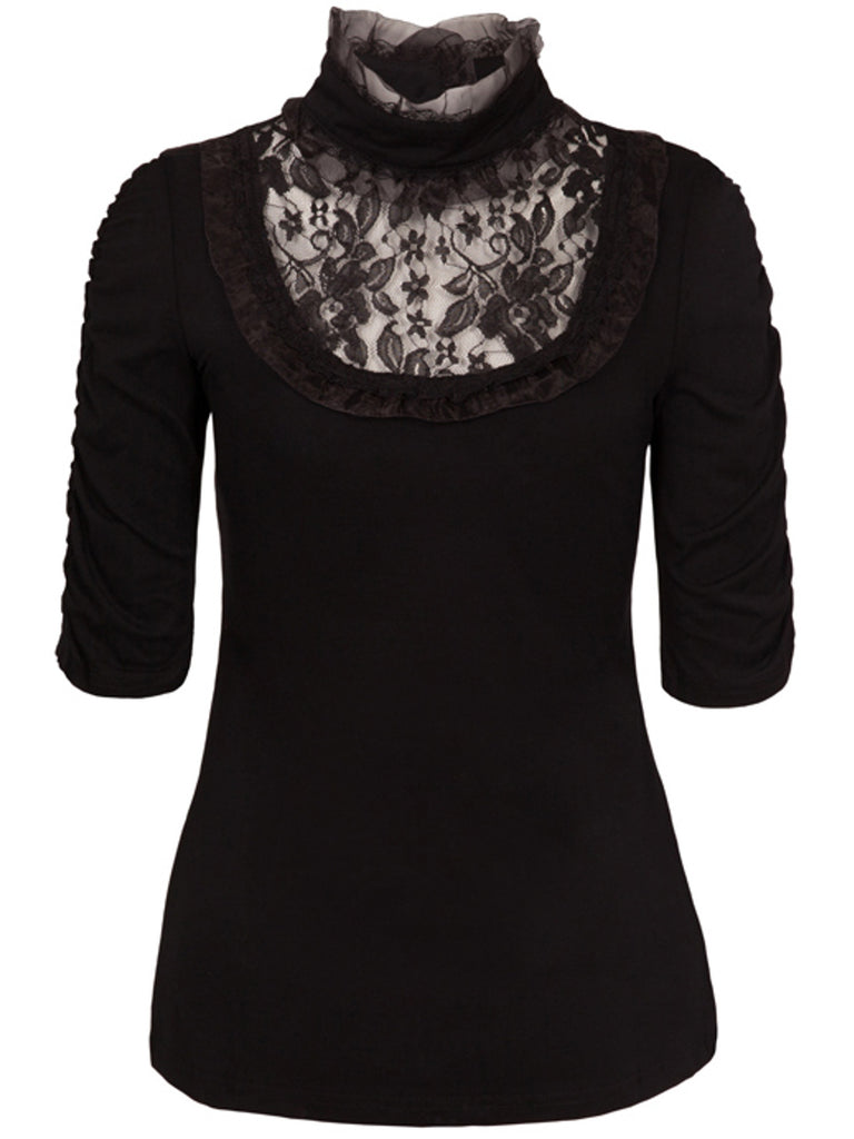 Black Abigail Top