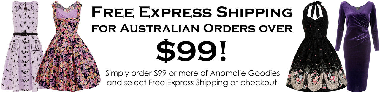 Free Express Shipping for Australian Orders over $99!