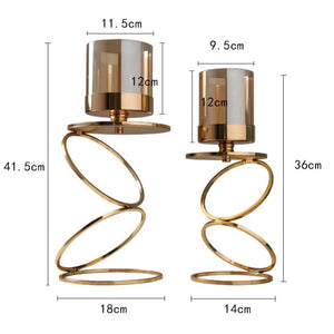 Elegant Metal Candle Holders
