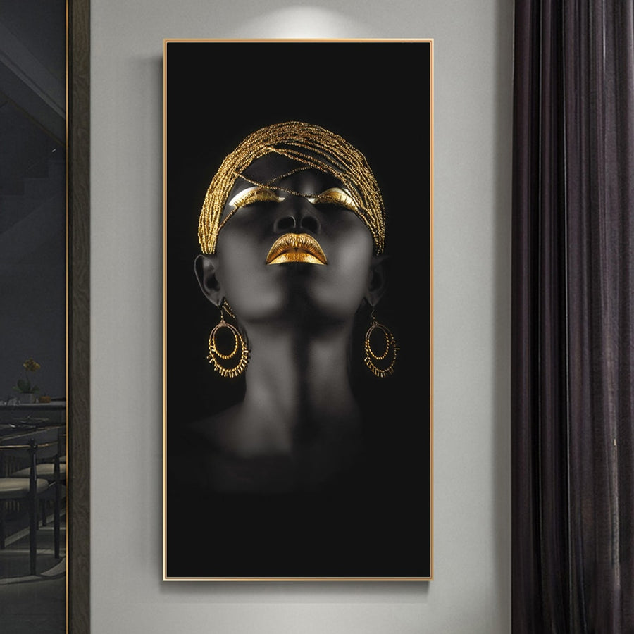 Golden Lady Wall Art