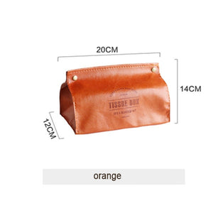 Soft Vegan Leather Tissue Box