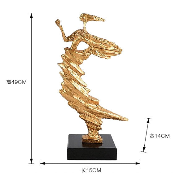 Modern Abstract Dancing Girl Sculpture