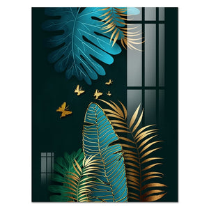Petals and Feathers Canvas Art