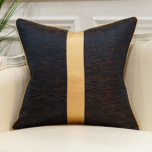 Elegant Gold Ribbon Cushion Covers