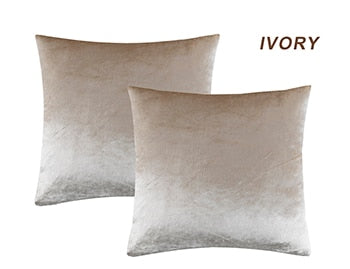 2 Packs Glowing Velvet Cushion Covers