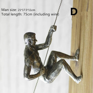 Rock Climbing Men Wall Accent