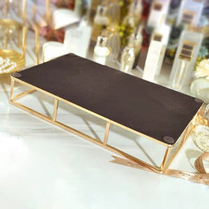 Vintage Metal Glass Tray