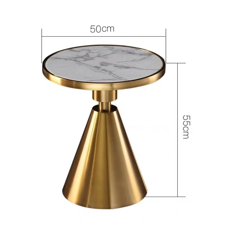 Marble top Brass Table