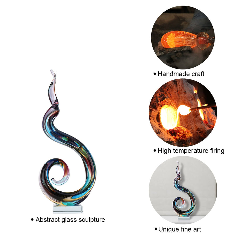 Handmade Abstract Glass Sculpture