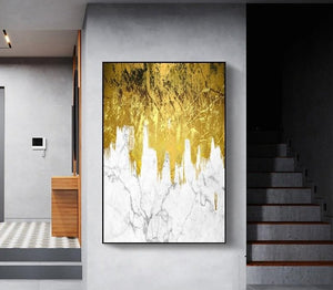 Abstract Spectacular Golden Landscape
