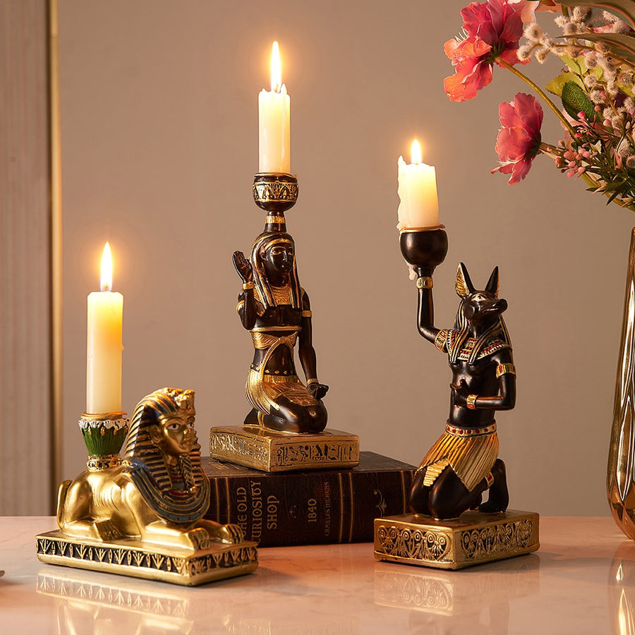 Ancient Egyptian Candle Holders