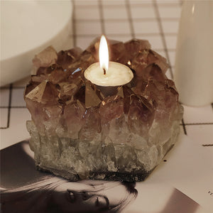 Amethyst Natural Stone Candle Holder