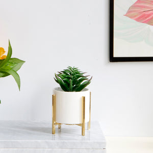 Minimalist Flower Planter with Metal Stand