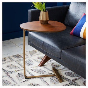 Oval Solid Wood Countertop Table