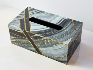 Abstract Wooden Tissue Box Holder