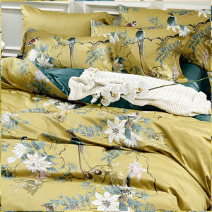 Saloni Silky Egyptian Cotton Duvet Cover Set