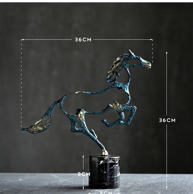 Jumping Horse Statue