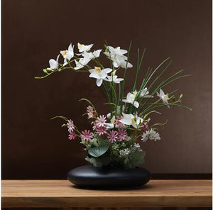 Dove Ceramic Vase with Orchid