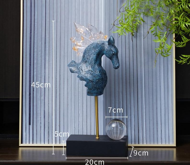 Crystal Blue Horse Head