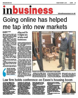 Origin Antiques featured in the Colchester Daily Gazette