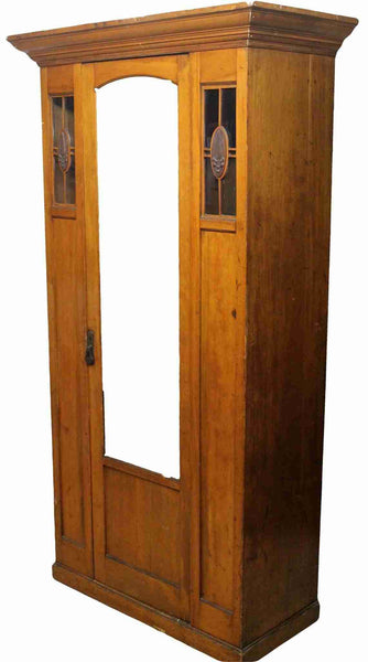 1920's Full Hanging Mahogany Wardrobe-Origin Antiques