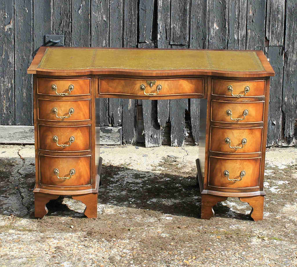Bevan Funnel 'Reprodux' Knee Hole Writing Desk-Origin Antiques