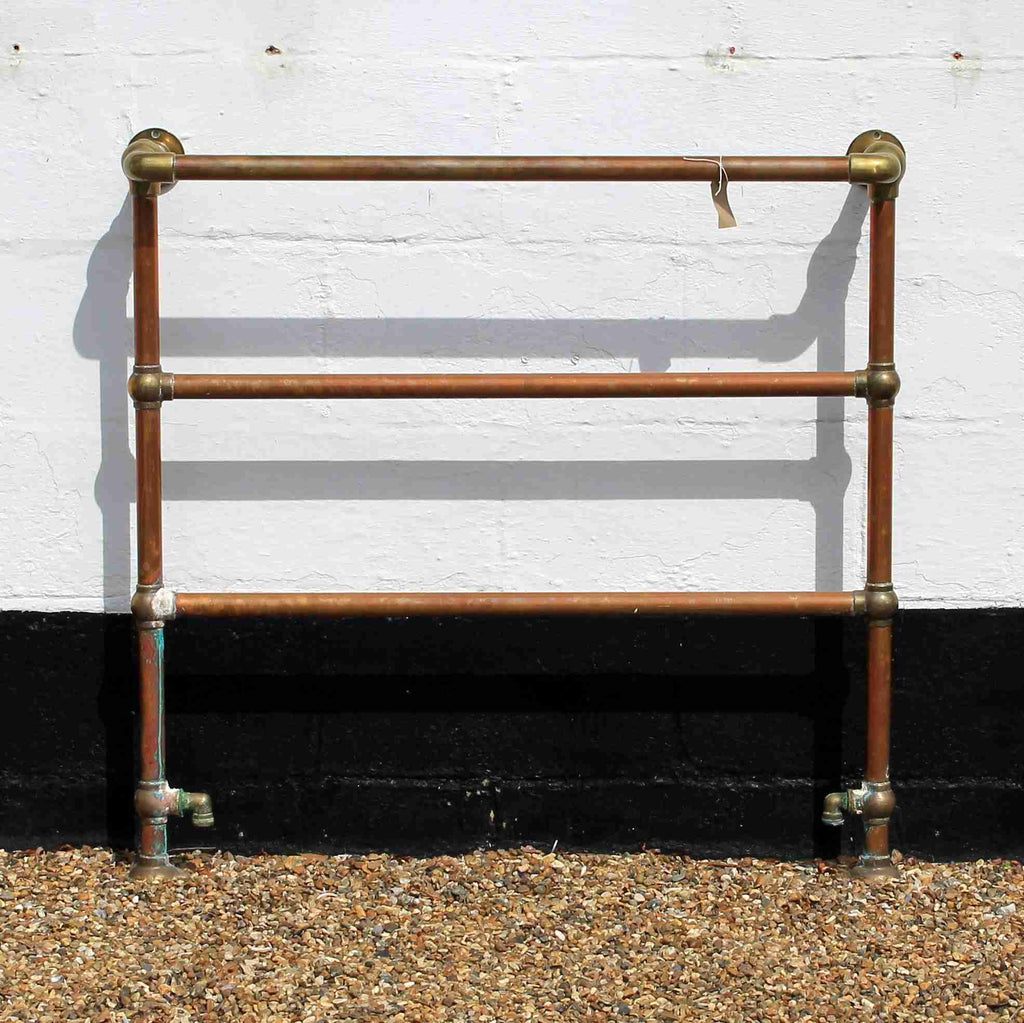 Brass and Copper Heated Towel Rail-Origin Antiques