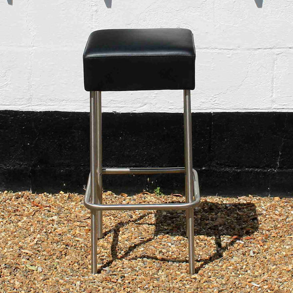Chrome and Leather Bar Stool-Origin Antiques