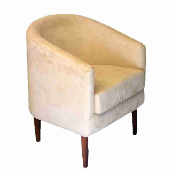 Contemporary Cream Upholstered Tub Chair-Origin Antiques