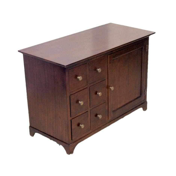 Contemporary Hardwood Cabinet with Drawers-Origin Antiques