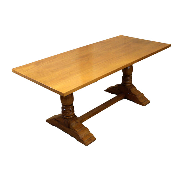 Contemporary Hardwood Refectory Style Dining Table-Origin Antiques