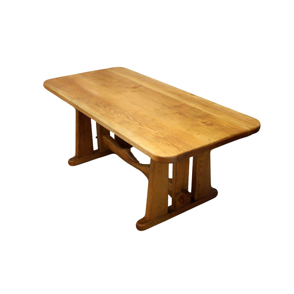 Contemporary Light Ash 1.8m Refectory Farmhouse Dining Table-Origin Antiques