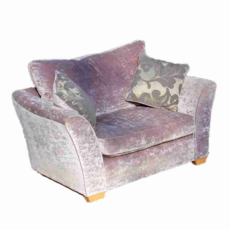 Contemporary Lilac Upholstered Love Seat-Origin Antiques