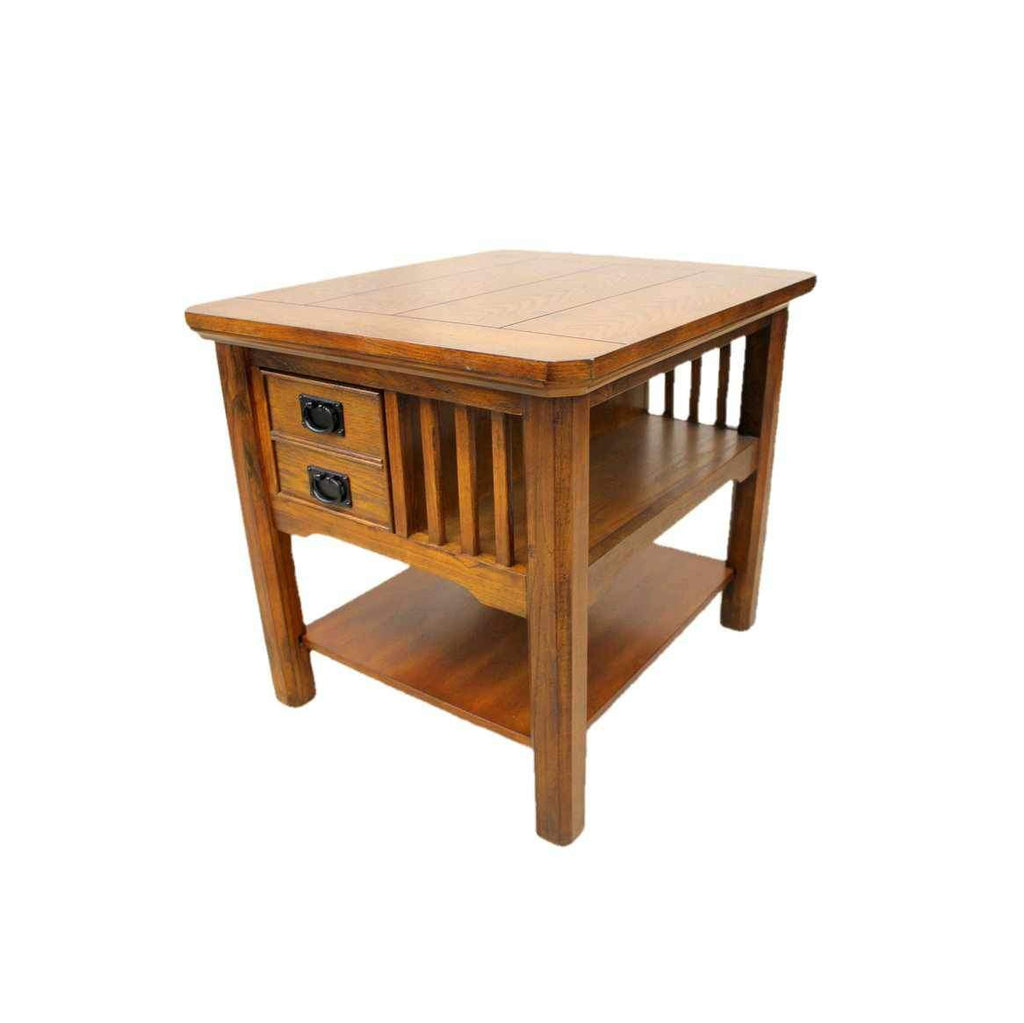 Contemporary Oak Side Table-Origin Antiques