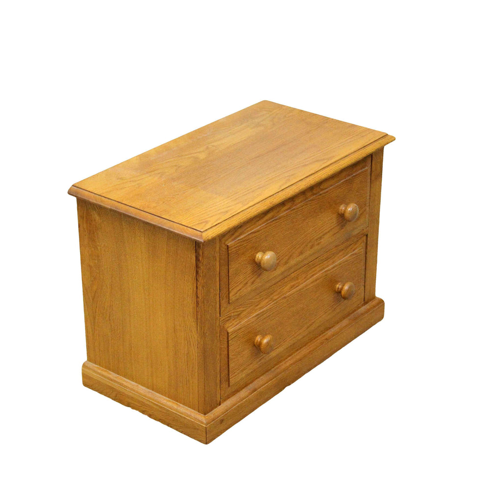 Contemporary Oak Two Drawer Low Chest-Origin Antiques