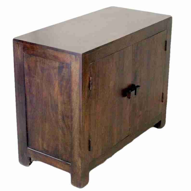 Contemporary Sheesham Dark Wood Cabinet Origin Antiques