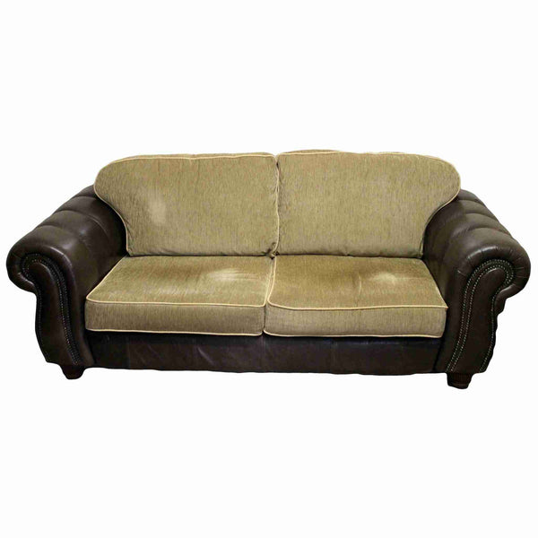 Contemporary Three Seater Leather Sofa-Origin Antiques