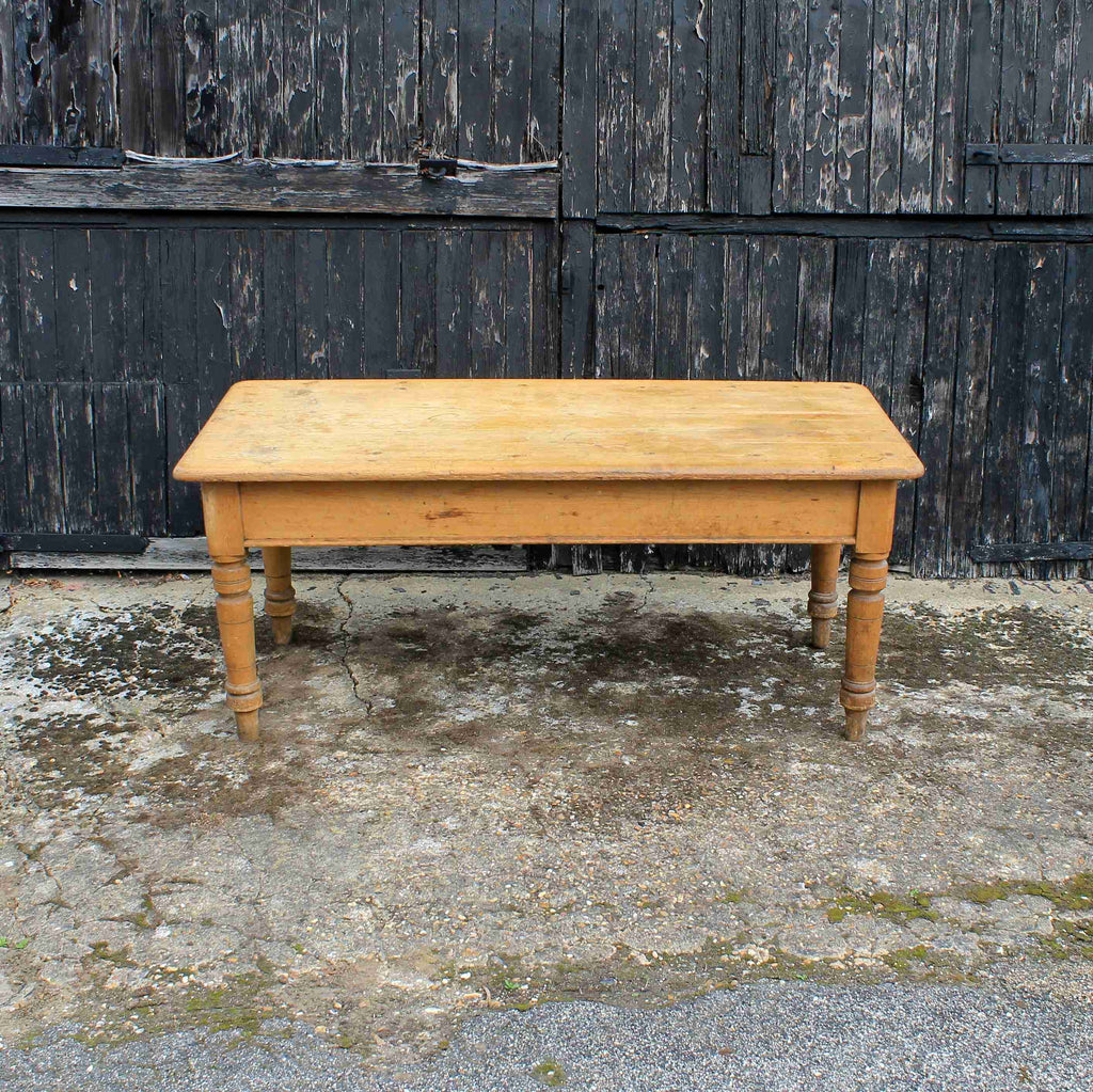 Country Style Farmhouse Rustic Antique Pine Kitchen Dining Table-Origin Antiques