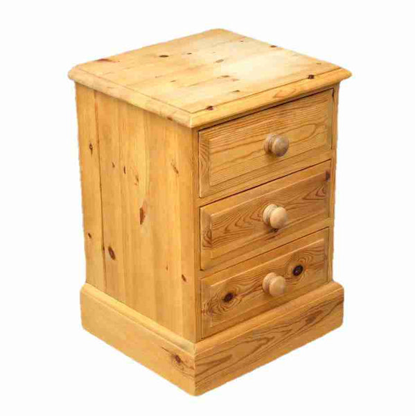 Country Style Pine Bedside Chest-Origin Antiques