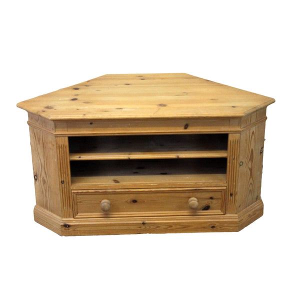 Country Style Pine Corner TV Unit-Origin Antiques