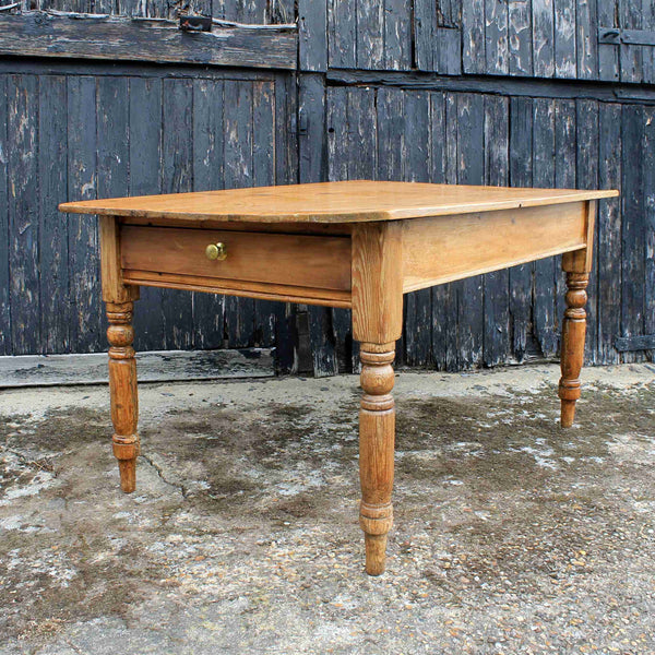 Country Style Pine Kitchen Dining Table-Origin Antiques